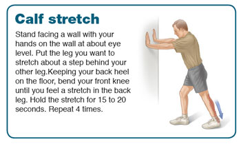 calf stretch and achilles stretch